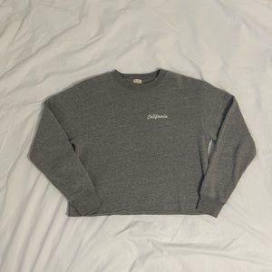 Brandy Melville Nancy Embroidered Sweatshirt